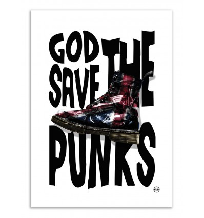 Art-Poster - God save the punks - Rubiant