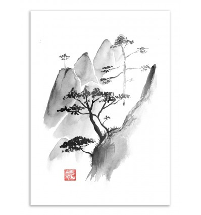 Art-Poster - Cliff - Pechane Sumie