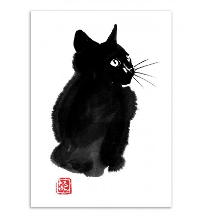 Art-Poster - Fluffy cat - Pechane Sumie