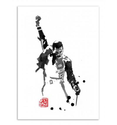Art-Poster - Freddy Mercury - Pechane Sumie
