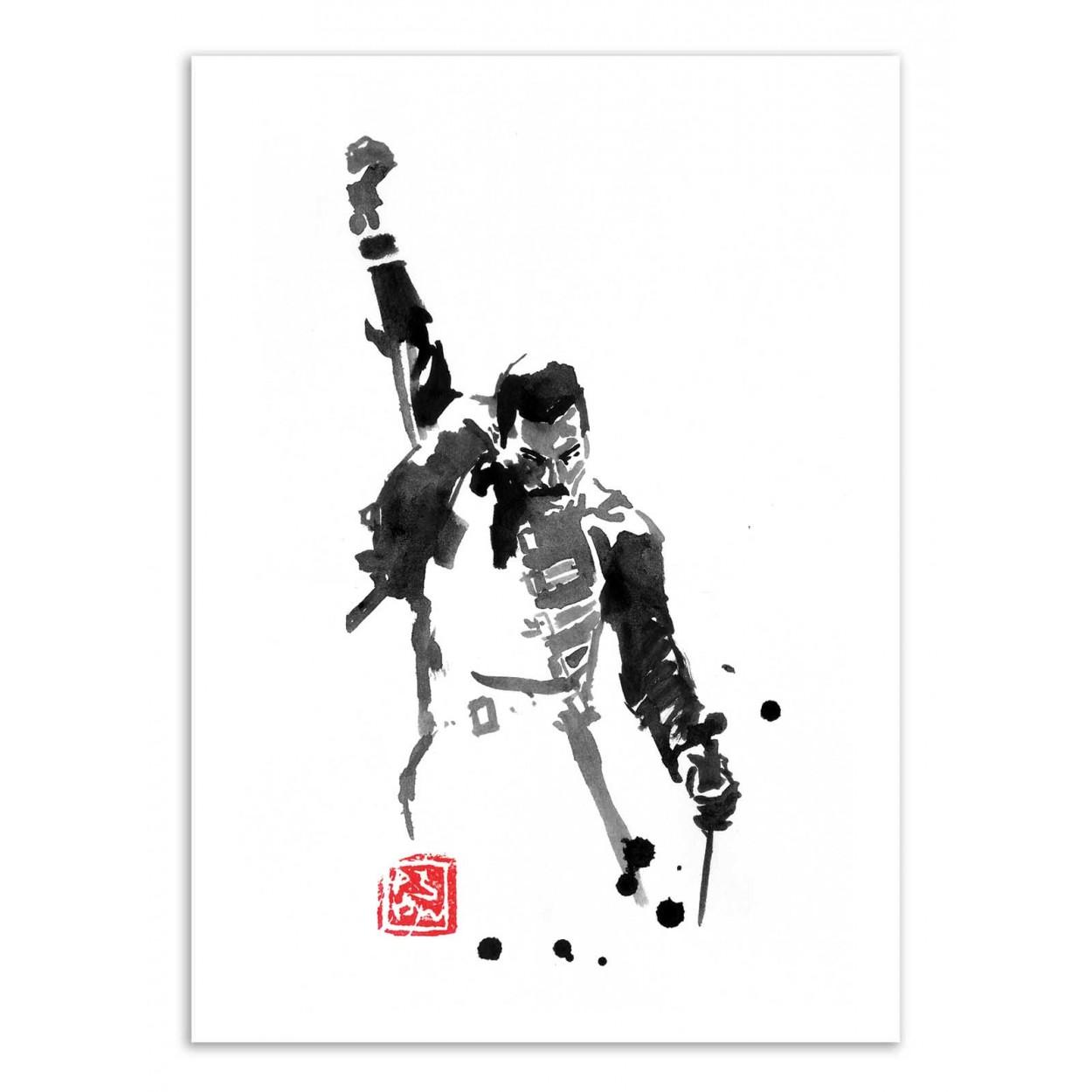 Art Poster Print Freddy Mercury By Pechane Sumie