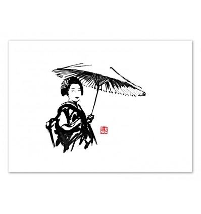Art-Poster - Geisha - Pechane Sumie