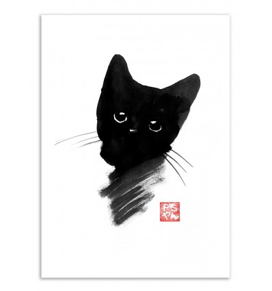 Art-Poster - Kitty black - Pechane Sumie