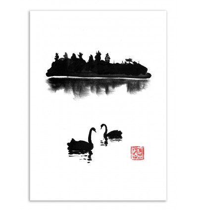 Art-Poster - Swan Island - Pechane Sumie