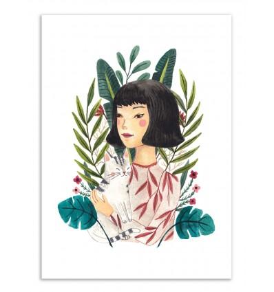 Art-Poster - Cat lady - Ploypisut