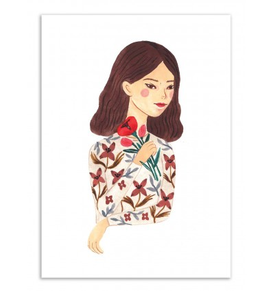 Art-Poster - Flower girl - Ploypisut