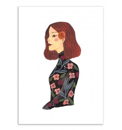 Art-Poster - Lady in black - Ploypisut
