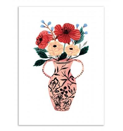 Art-Poster - Pink vase - Ploypisut