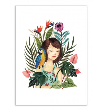 Art-Poster - Tropical girl - Ploypisut
