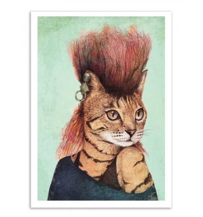 Art-Poster - Caty (Colored version) - Mike Koubou