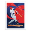 Art-Poster - baseball Player - Nikita Abakumov