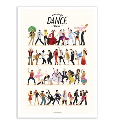Art-Poster - Everybody Dance now - Nour Tohme