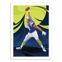 Art-Poster 50 x 70 cm - Football Player - Nikita Abakumov