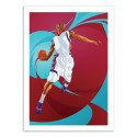 Art-Poster 50 x 70 cm - basketball Player - Nikita Abakumov