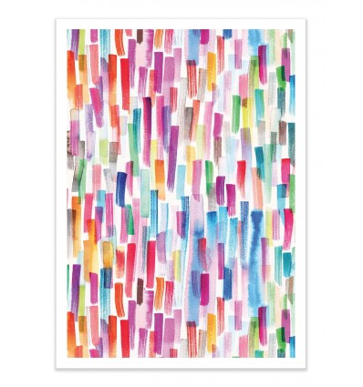 Art-Poster - Colorful Brushstrokes Multicolored - Ninola