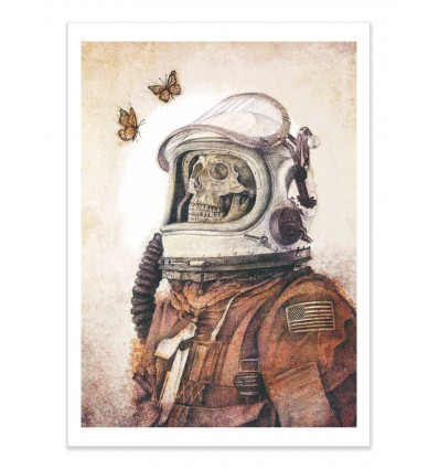 Art-Poster - Butterflies in space (Colored version) - Mike Koubou