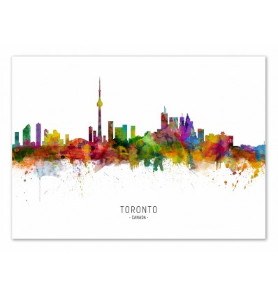 Art-Poster - Toronto Skyline (Colored Version) - Michael Tompsett