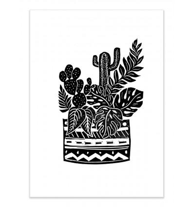 Art-Poster - Botanical Pot Block - Bianca Green