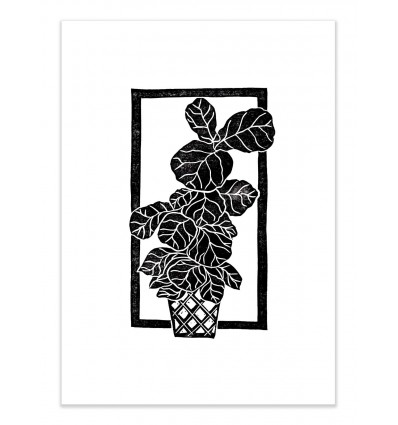Art-Poster - Fiddle leaf Fig block - Bianca Green