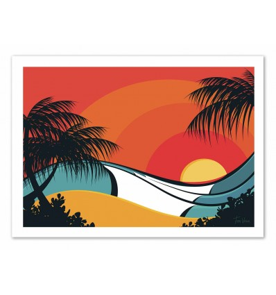 Art-Poster - Pipeline waves - Tom Veiga