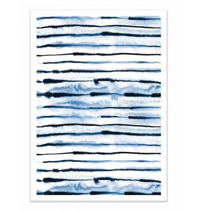 Art-Poster - Indigo electric stripes - Ninola