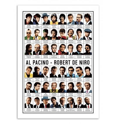 Art-Poster - Al Pacino and Robert de Niro - Olivier Bourdereau